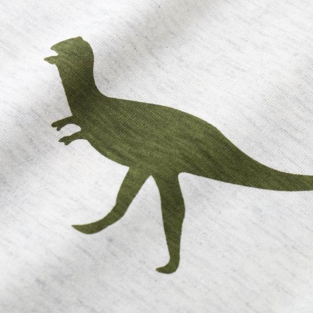 Cartoon Dinosaur Printed Boy's T-Shirt