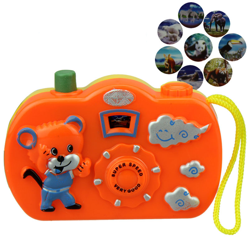 Kids Baby Toys Gift Projection Camera Educational Toys Animals World Random Color 8cm 4