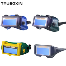 Solar Auto Darkening Eyes Mask Welding Helmet Welding Mask Eyeshade/Patch/Eyes Goggles for Welder Eyes Glasses solar auto darkening welding safety goggles eyes protect anti uv welding glasses workplace welder safety eye protection