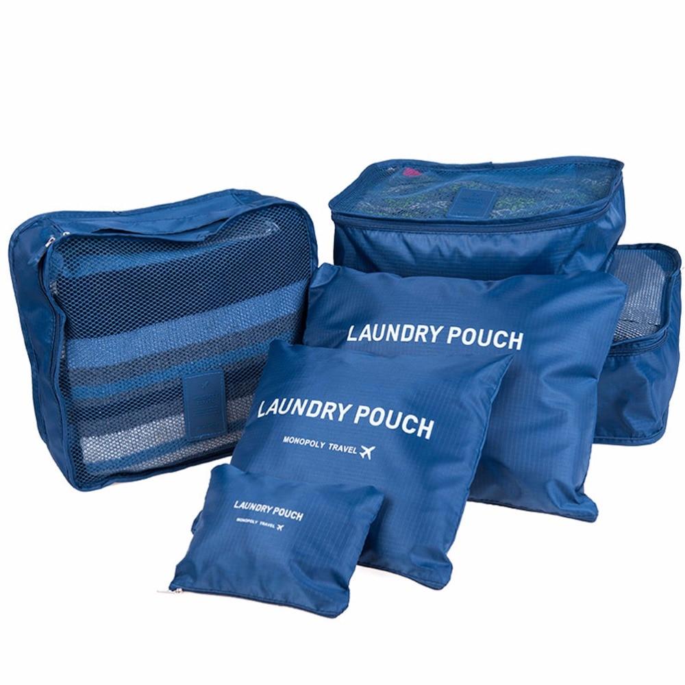 de classificação sacolas de roupas Travel Bag : 6 Peças Conjunto