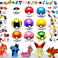 9 шаров+ 24 фигурки бесплатно случайные мини-фигурки внутри Аниме фигурки и игрушки для детей