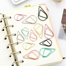 10 pcs/lot mini Waterdrop bookmark planner paper clip material escolar bookmarks for book stationery school supplies papelaria(China)