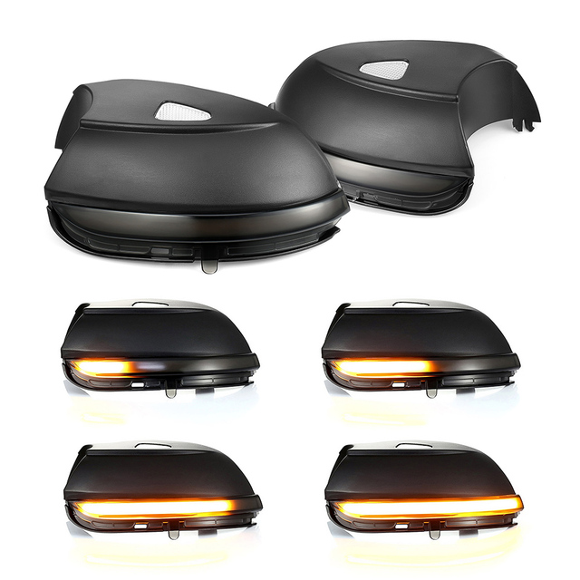 2 stücke Dynamische Rückspiegel Anzeige Blinker Seite LED Blinker Licht Für Volkswagen VW Passat B7 Scirocco MK3 CC EOS Beetle