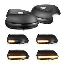 2pcs 동적 백미러 표시기 깜박임 측면 LED 신호등 폭스 바겐 폭스 바겐 Passat B7 Scirocco MK3 CC EOS Beetle