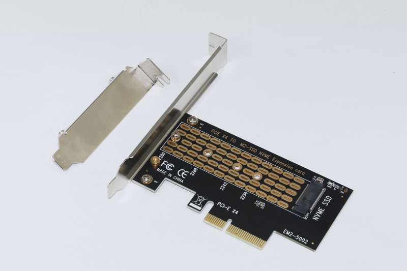 Купить с кэшбэком NEW PCI-E PCI Express 3.0 X4 to NVMe M.2 M KEY NGFF SSD PCIE M2 Riser Card Adapter Support 2230 2242 2260 2280 Size NVMe M.2 SSD