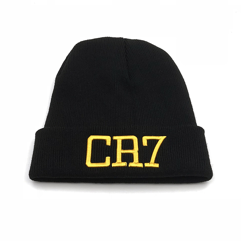 Aliexpress.com   Buy 2018 new Solid color men women CR7 embroidered Knit  Hat Winter Hats Skullies   Beanies Cristiano Ronaldo winter Warm hat from  Reliable ... a3d709057c75