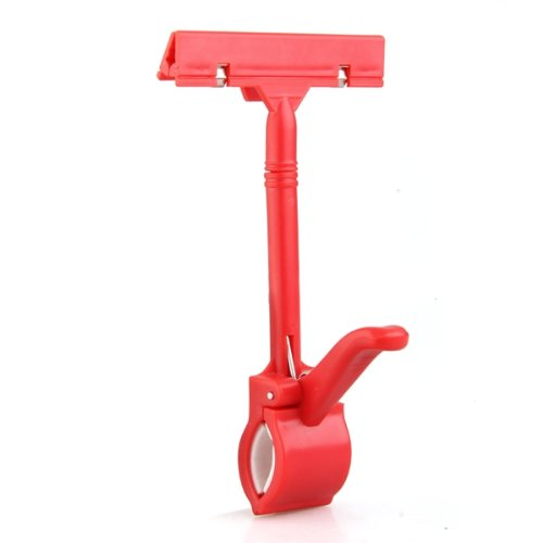 SOSW-Merchandise Retail Price Tag Pop Display Holder Clip Clamp Red