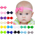 17PCS/Lot  Baby Kids Girls Colorful Mini Bowknot Hairband Elastic Headband Baby Knot Hair Band Baby Girls Headband Accessories