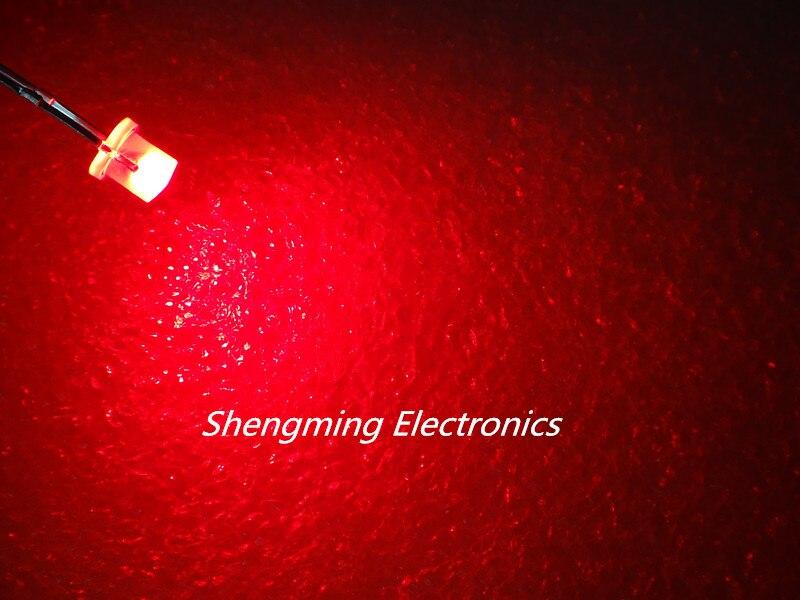 20 PCS F3 3MM FLAT TOP LED BLUE SUPER BRIGHT Wide Angle Leds Lamps