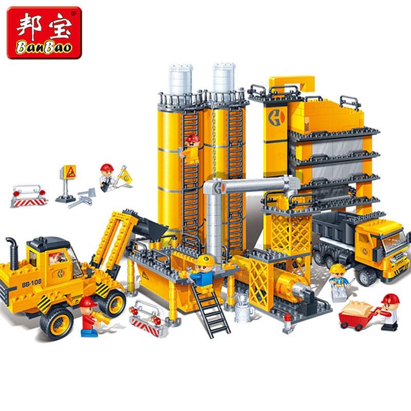 Banbao 8531 City 808pcs Construction Engine Plastic