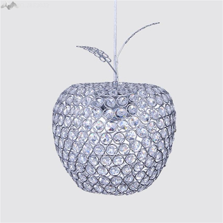 JW Modernen Einzelkopf Apple Kristall Pendelleuchte Mosaik Hngen Lampe Restaurant Bar Cafe Wohnzimmer Leuchte Dekoration