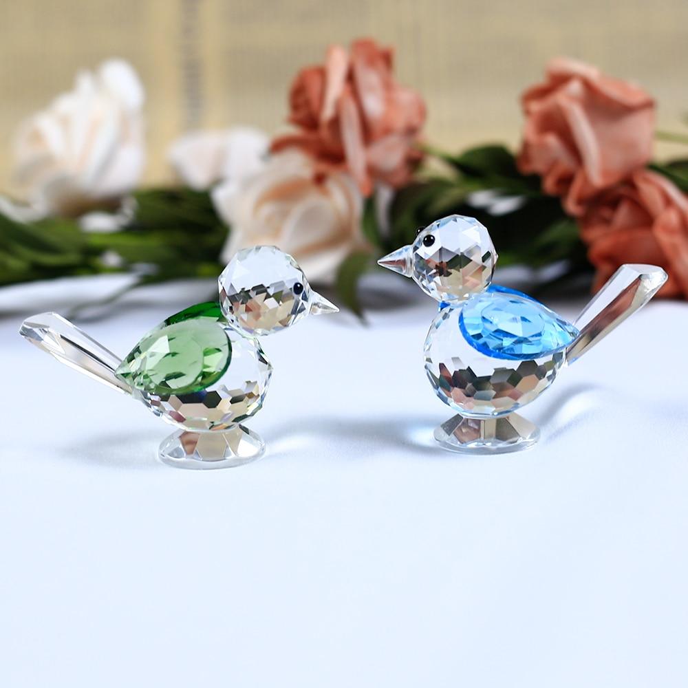 1 bucată de cristal model de pasăre drăguț vrabie figurine de sticlă de animale de hârtie DIY ornamente de cadouri Pagina de decorare accesorii
