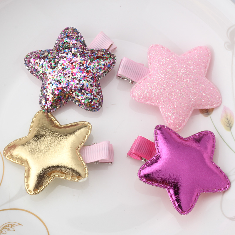 M MISM Kids Girls Lovely Star Hair Clips Perfect Quality Princess Hairpins Bowknot Hair Accessories Delicate Hairgrips for Child m mism girl cute hairball hairpins lovely colorful hairgrips kids accessories new arrival hair clips headwear best gift to kids