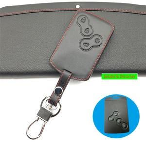 Image 5 - 100% leather car key case key cover for Renault Clio Dacia Logan Sandero Megane Modus Espace Kangoo keychain Remote control case