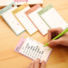 Stationary Cute Desk Weekly Daily Sticky Planner Cartoon Notes Stickers Diary Stamps Post It Paper Korean Stationery To Do List