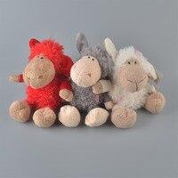 25 cm Cores Pequenas Ovelhas de Pelúcia Brinquedo de Pelúcia, 3 Pcs Lambies Bebê Crianças Boneca Presente Frete Grátis