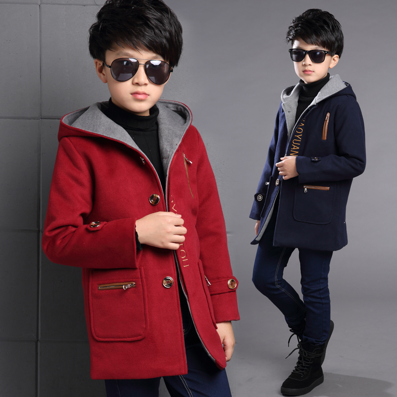 New 2017 Spring Autumn Winter Children's Patchwork Coat Blue Red High Quality Kids Jackets Windbreaker For Boy fits US6~14Y