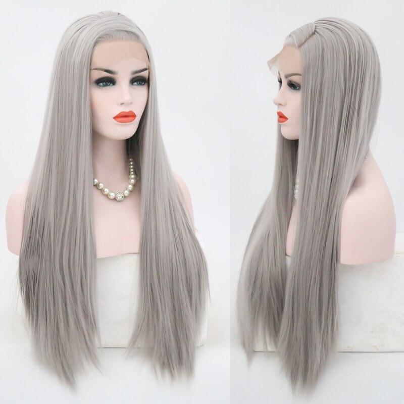 longa reta para as perucas resistentes ao calor das mulheres