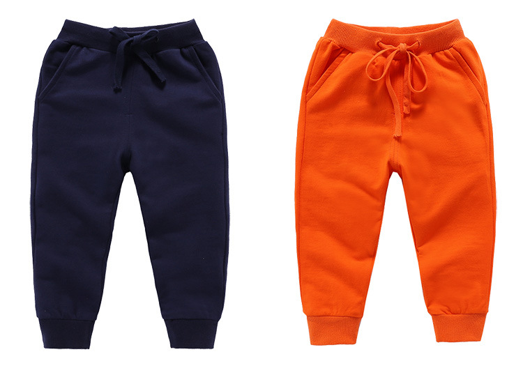 Retail New Warm Velvet Pants For 2-10 Yeas Solid Boys Girls Casual Sport Pants Jogging Enfant Garcon Kids Children Trousers 8
