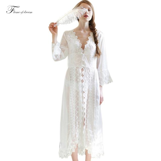 Roupão de banho Vestido Camisola Sleepwear Vestido Camisones De Dormir Noite Vestido Camisola Mulheres Desgaste Da Noite Saia Camisolas Das Mulheres