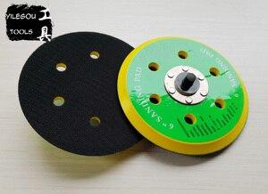 "Image 4 - 2 Pieces 150mm 6 Hole Sanding Pad 6"" Polishing Disc 6 Hole Polishing Plate 6 inch Grinding Disc Screw Thread M8"