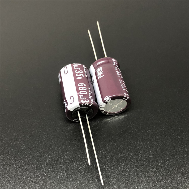 5pcs/50pcs 680uF 35V NICHICON PW Series 12.5x20mm Low Impedance 35V680uF Aluminum Electrolytic Capacitor