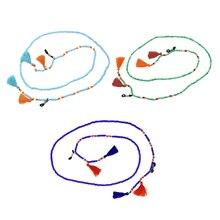 1 Piece Women Sunglasses Reading Bead Eyeglasses Chain Woman Neck Strap Rope Holder Tassel Boho Cord Necklace