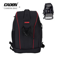 Caden Nylon Waterproof Shockproof Camera DSLR Outdoor Travel Backpack Bag Case Large Capacity For Sony For