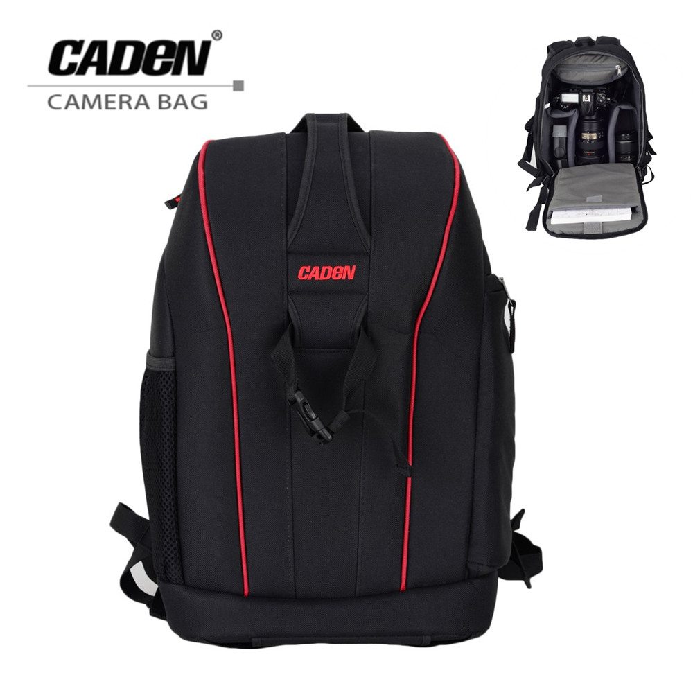 Caden Nylon Waterproof Shockproof Camera DSLR Outdoor Travel Backpack Bag Case Large Capacity for Sony for Canon LSR Cameras lowepro protactic 450 aw backpack rain professional slr for two cameras bag shoulder camera bag dslr 15 inch laptop
