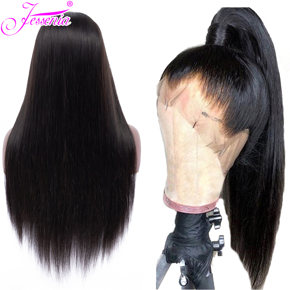 13*4 Lace Front Human Hair Wigs Brazilian Straight Hair Wig 150 Density Lace Frontal Wig Pre Plucked With Baby Hair