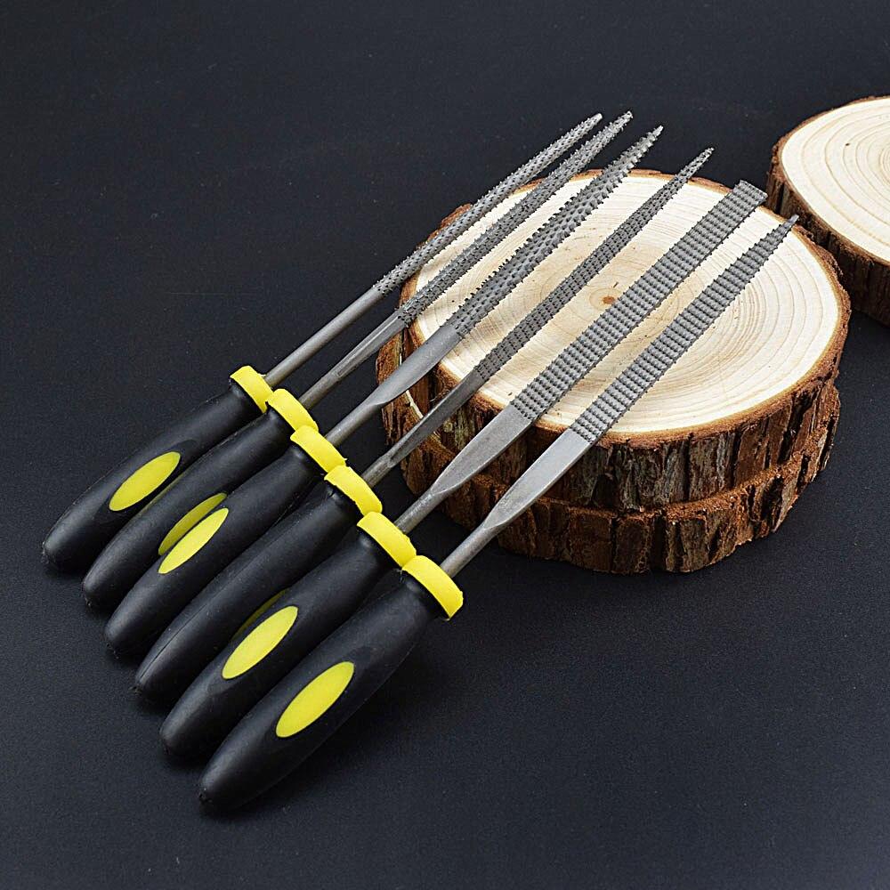Dateien Handwerkzeuge 4 In 1 Mini Set Werkzeuge Diy Legierung Platz Flache Halbe Runde Füllung Nadel Holzbearbeitung Holz Carving Dateien Raspel Holz