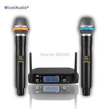 лучшая цена Professional UHF Wireless Conference Condenser Microphone Transmitter Sets High-Quality Omnidirecetional Microphone GLXD8