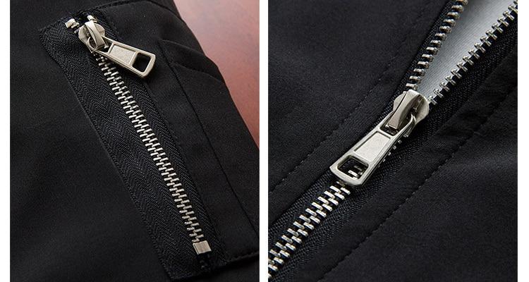 Men's Bomber Zipper Casual Streetwear Hip Hop Slim Fit Pilot Coat Men 35