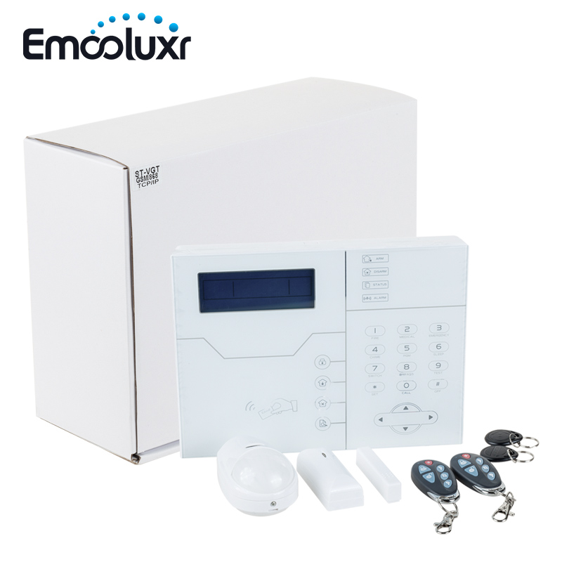 TCP IP GSM SMS APP Control Home Security Alarm System with RJ45 Ethernet Port, Luxury Touchscreen Design, High Quality gsm module tcp ip gsm modem high quality 3g modem gsm bulk sms sending imei changeable