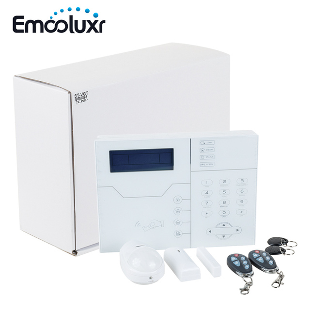 TCP IP GSM SMS APP Control Home Security Alarm System With RJ45 Ethernet  Port, Luxury