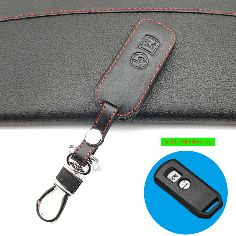 Genuine leather motor key cover case shell for <font><b>Honda</b></font> PCX 150 hybrid X-ADV <font><b>SH125</b></font> Scoopy SH300 Forza 125 2 buttons smart key image