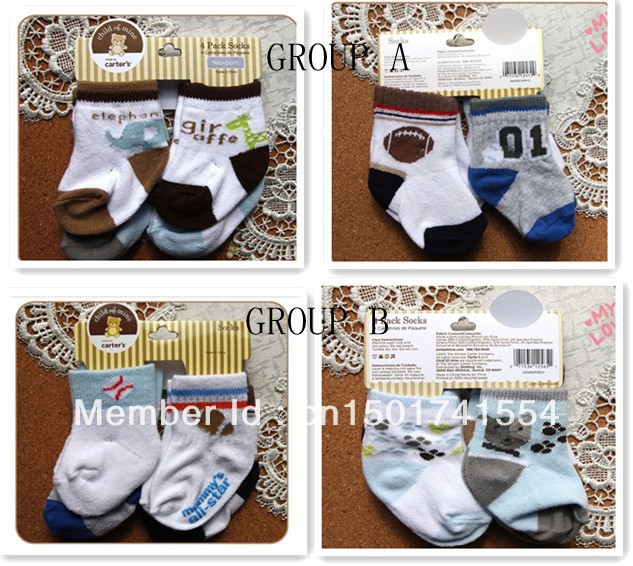 free shpping New arrival hot-selling 100% cotton children  boy socks  Football and Giraffe Carter powder baby cotton socks socks