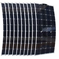 Factory Price 10pcs 100W Flexible Solar Panel 36pcs Solar Cells For Motorhomes Boats Roof 12V Battery Charger 100w Solar Module