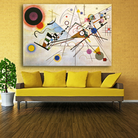 WASSILY KANDINSKY Abstract Art Wall Painting Prints and Posters Canvas Pictures For Living Room Cuadros Decorative Art Picture