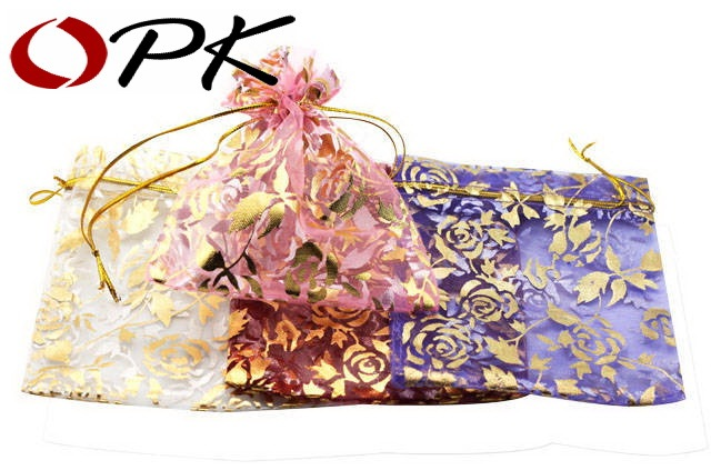 OPK JEWELRY Silk Bags For Bracelets Necklace Packing Multi Color Jewelry Package Punches 204