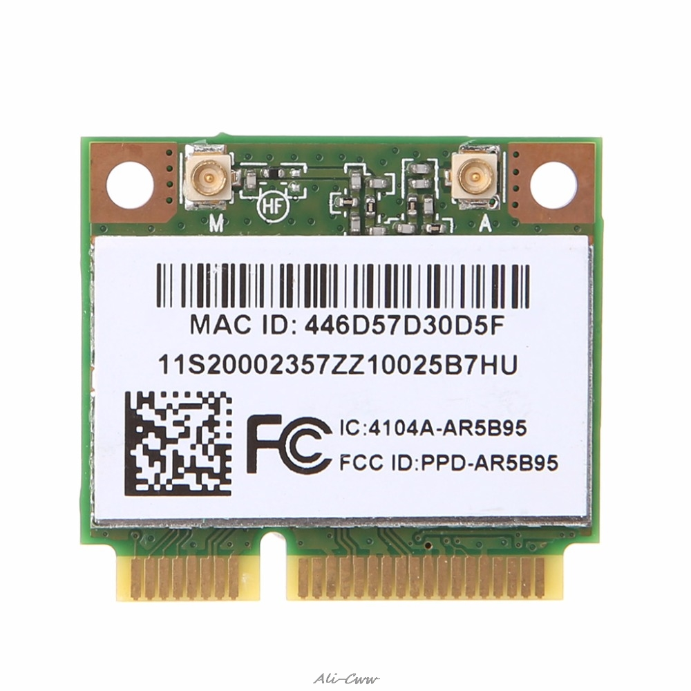 AR9285 AR5B95 Wireless 802.11b/g/n Half Mini PCI-Express WiFi Card For Lenovo Laptop Wireless Card