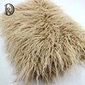 (75*50 cm) Faux Fur PIEL MONGOL Manta Embutidora de la Cesta accesorios de Fotografía Recién Nacido Apoyos de La Fotografía