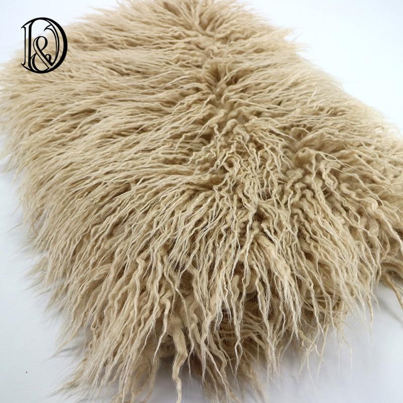 (75*50cm) Faux Fur MONGOLIAN FUR Blanket Basket Stuffer Photography Props Newborn Photography Props