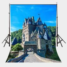 150x220cm Medieval Cloister Castle Backdrop Green Mountain Forest Photography Background