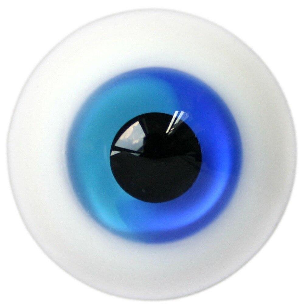ET60# 8mm Half Blue SD DZ DOD LUTS BJD Dollfie Glass Eyes Outfit [wamami] black leather cap hat 1 3 sd dod dz luts bjd dollfie