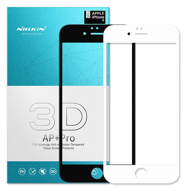 Protector de pantalla de nillkin para el iphone 6 0.23mm cubierta completa anti-explosión de cristal templado protector de pantalla para iphone 6 s (4.7 pulgadas)