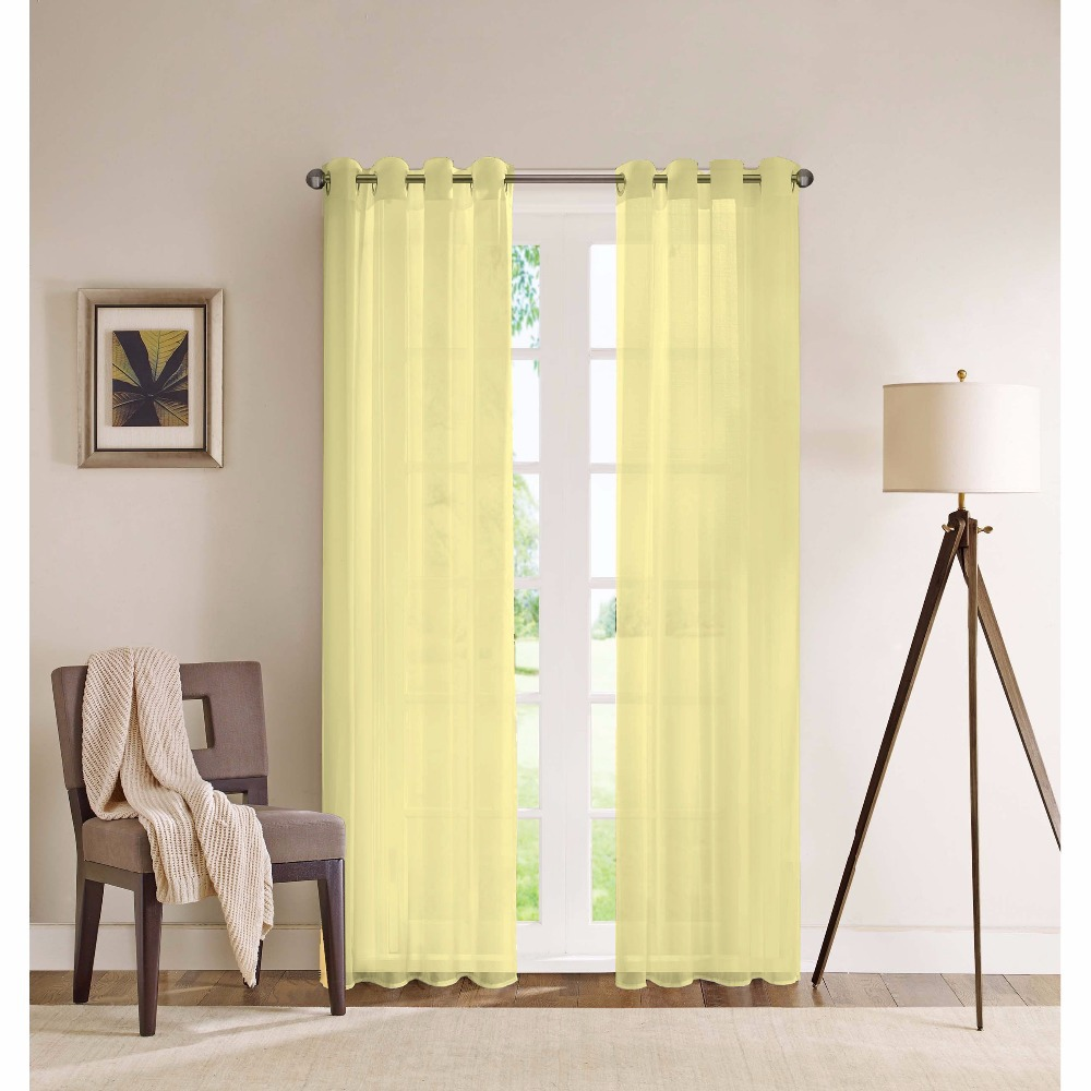 Yellow modern curtain panels - Aliexpress Com Two Panels French Window Perspective