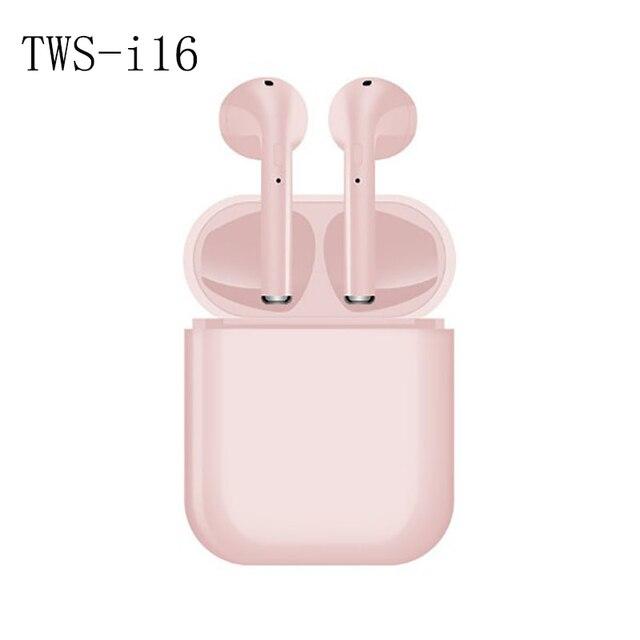 TWS i16 Smart Bluetooth 5.0 earphoes earbuds earplugs binaural stereo noise reduction waterproof touch control siri charging box