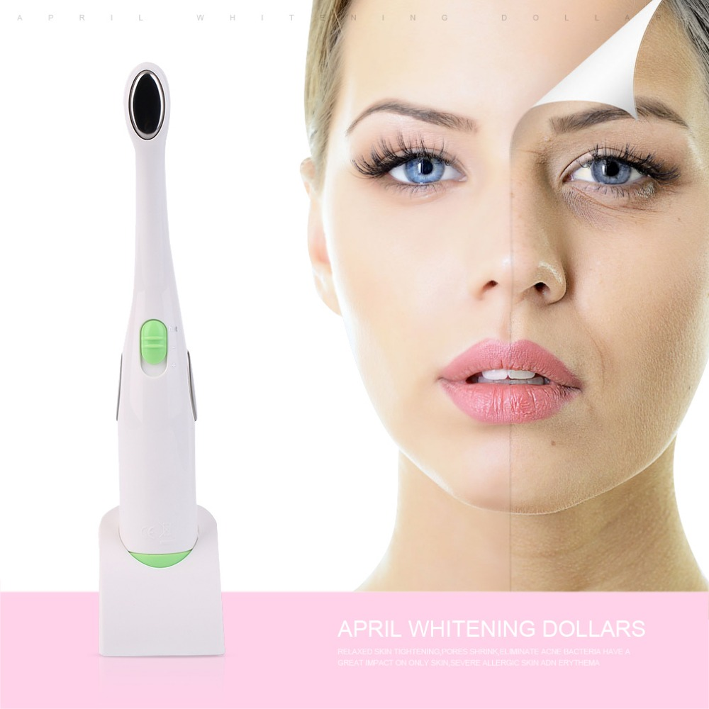 1pc Facial Skin Care Beauty Care Ionic Heated Massager Wand Acne Derma Ionic Pen Wrinkle Removal Anti-Aging Treatment Device skin beauty care mini massage device electric eye massager facial vibration thin face magic stick anti bag pouch wrinkle pen