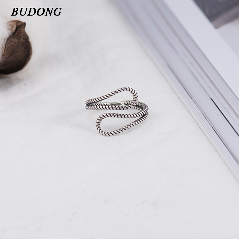 BUDONG Drop shipping Luxury 100% 925 Sterling Silver Rings for Women Wedding Engagement Acessories Jewelry Gift for Girl XURT022